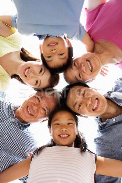 Portret chińczyk rodziny patrząc w dół kobieta dziecko Zdjęcia stock © monkey_business
