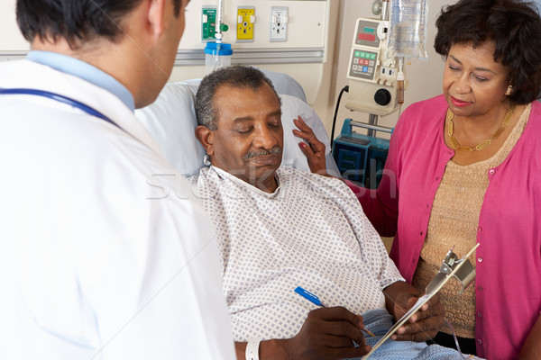 Doctor Explaining Consent Form To Senior Patient Stock photo © monkey_business