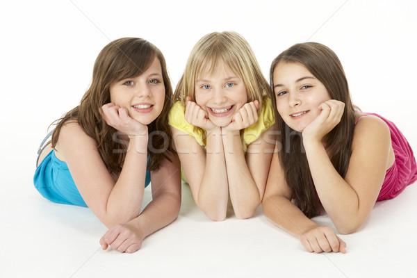 Grupo tres jóvenes ninas estudio nina Foto stock © monkey_business