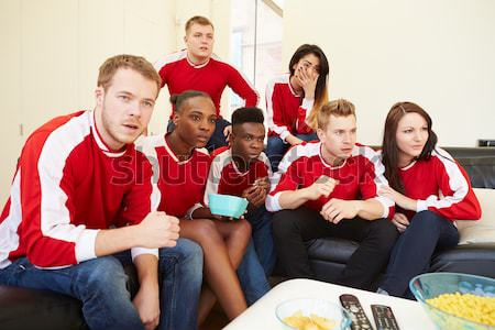 Group Of Children Eating Pizza Watching TV Stock photo © monkey_business