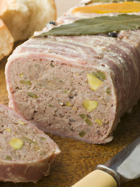 Pate Campagne on a Chopping Board with Rustic Bread Stock photo © monkey_business