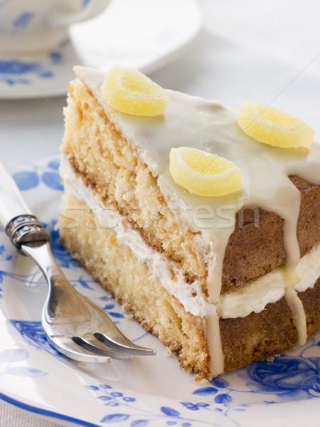 Slice of Lemon Drizzle Cake Stock photo © monkey_business