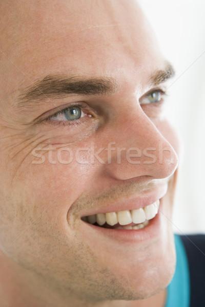 Сток-фото: голову · выстрел · человека · улыбаясь · улыбка · лице