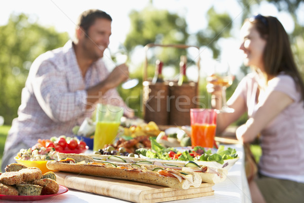 Stockfoto: Paar · dining · man · glas · tabel