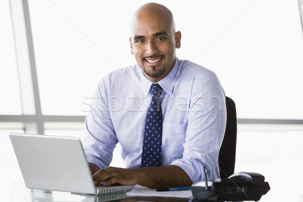 Businessman working at desk Stock photo © monkey_business