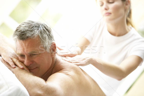 Stock photo: Middle Aged Man Enjoying Massage