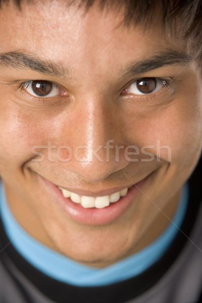 Сток-фото: портрет · счастливым · подростку · улыбаясь · цвета