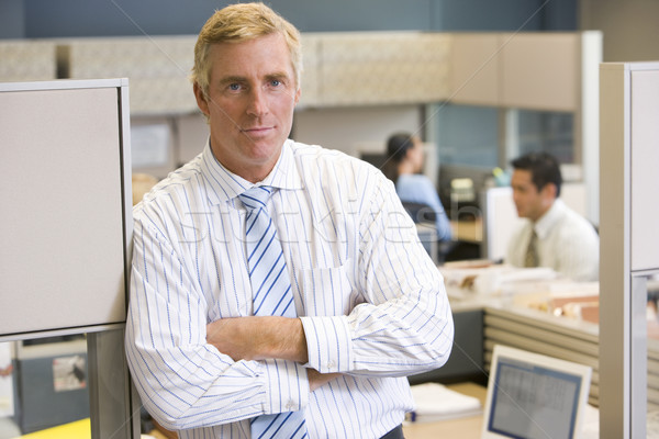 Businessman standing in cubicle Stock photo © monkey_business