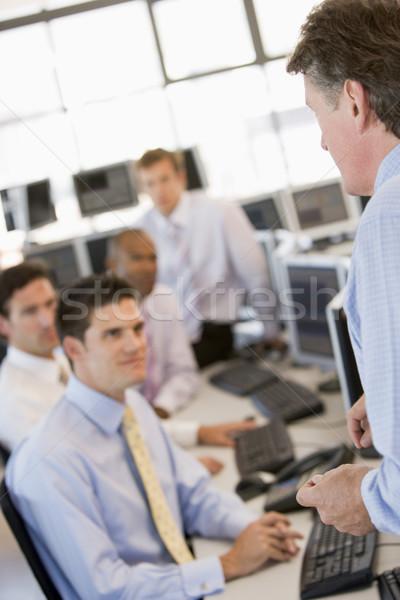 Stock lavoro business ufficio riunione felice Foto d'archivio © monkey_business