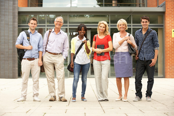 Mixed group of students outside college Stock photo © monkey_business