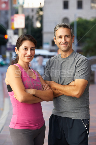 Portrait Of Male And Female Runners On Urban Street Stock photo © monkey_business