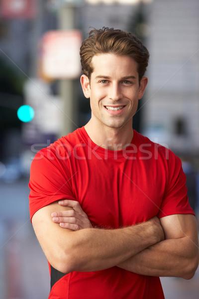 Portré férfi futó városi utca férfi Stock fotó © monkey_business