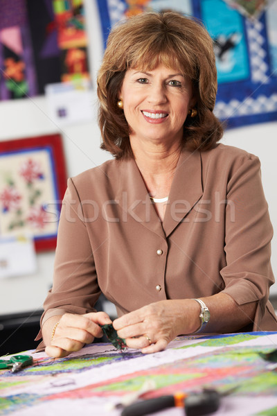 Portrait Of Woman Sewing Quilt Stock photo © monkey_business