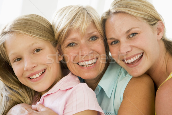 Abuela adulto hija nieta familia nina Foto stock © monkey_business