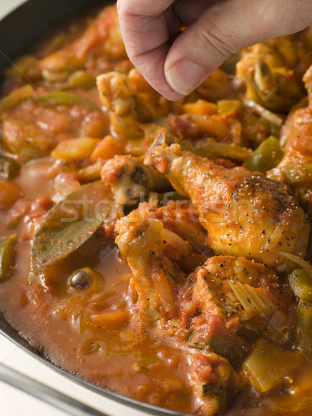 Creole Chicken Louisiana Style Cooking In a Pan Stock photo © monkey_business