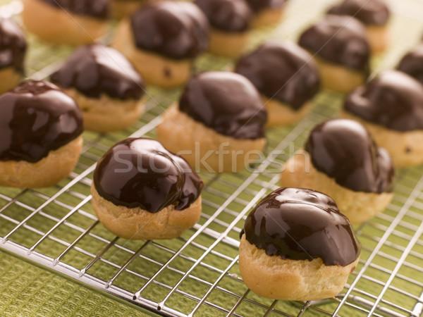 Chocolate dipped Profiteroles Stock photo © monkey_business
