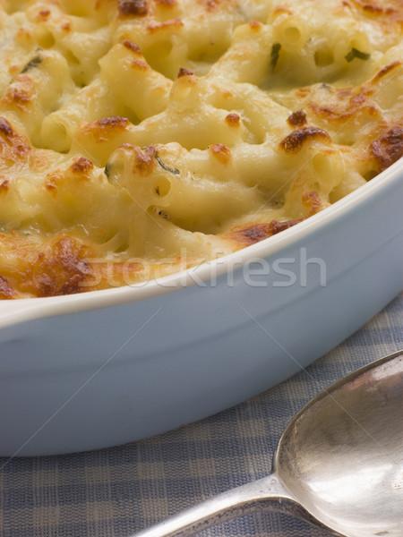 Foto d'archivio: Piatto · maccheroni · formaggio · cottura · cucchiaio · pasto