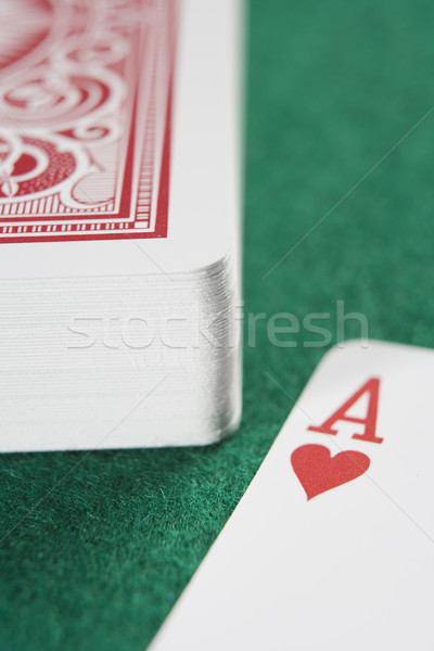 Deck of cards with ace Stock photo © monkey_business
