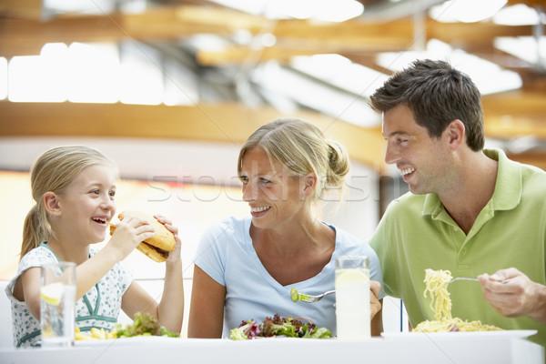 Stockfoto: Familie · lunch · samen · mall · vrouw · meisje