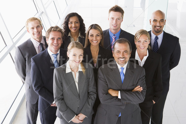 Overhead view of office staff Stock photo © monkey_business