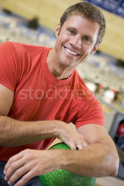Stockfoto: Portret · jonge · man · gelukkig · sport