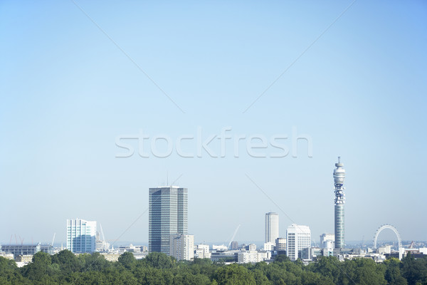 Cityscape With The BT Tower And Millennium Wheel, London, Englan Stock photo © monkey_business