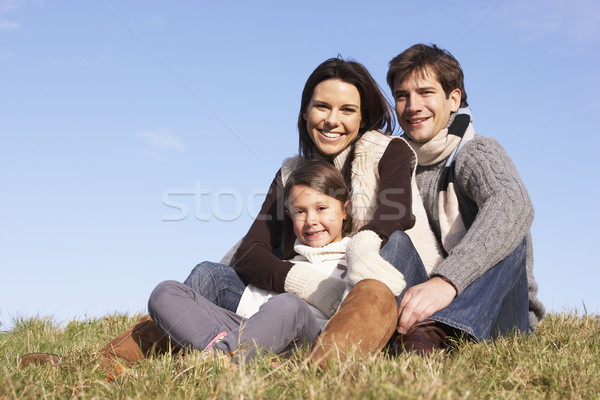 Family Sitting In Park Stock photo © monkey_business