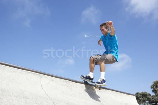 Stock photo: Teenage Boy In Skateboard Park