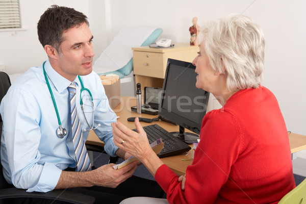 Brits praten senior vrouw chirurgie arts Stockfoto © monkey_business