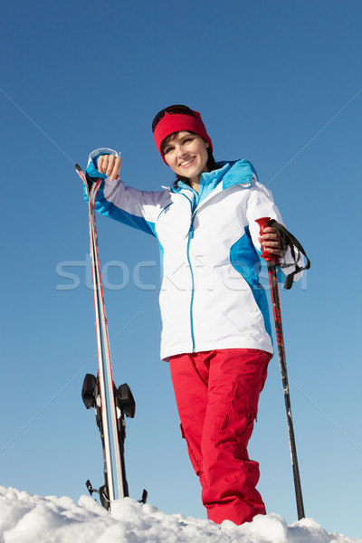 Middle Aged Woman On Ski Holiday In Mountains Stock photo © monkey_business