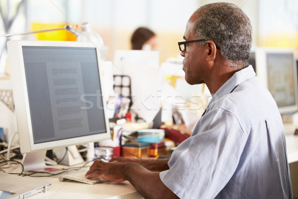 男 作業 デスク 忙しい 創造 オフィス ストックフォト © monkey_business