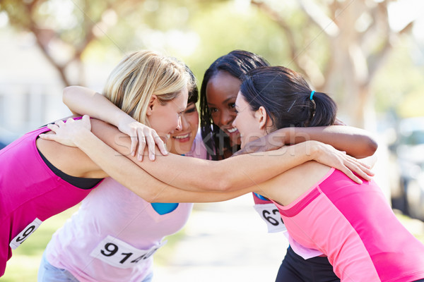 Female Runners Congratulating One Another After Race Stock photo © monkey_business