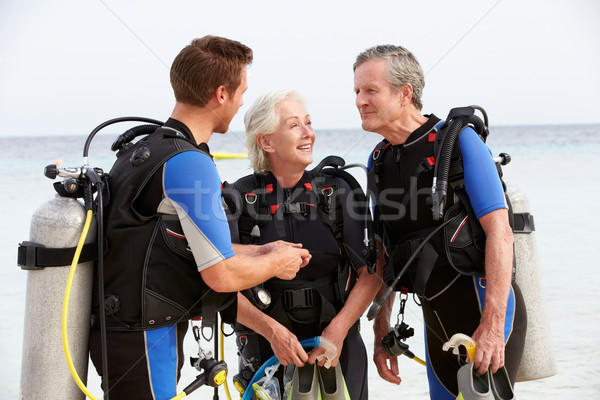 Senior Couple Having Scuba Diving Lesson With Instructor Stock photo © monkey_business