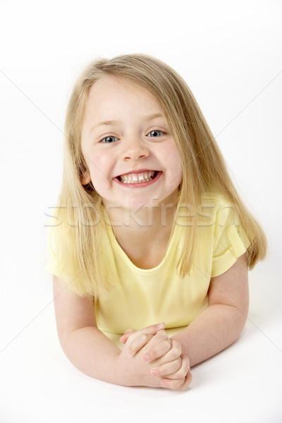 Сток-фото: желудка · студию · детей · счастливым · ребенка