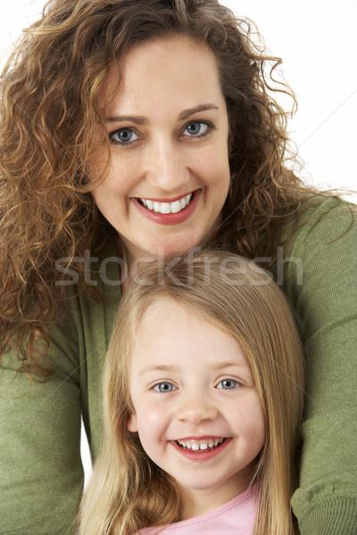 Portré ölelkezés anya gyermek arc szeretet Stock fotó © monkey_business