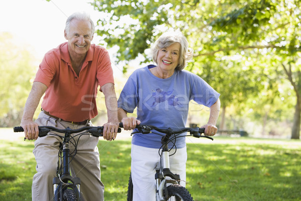 Senior couple on cycle ride Stock photo © monkey_business