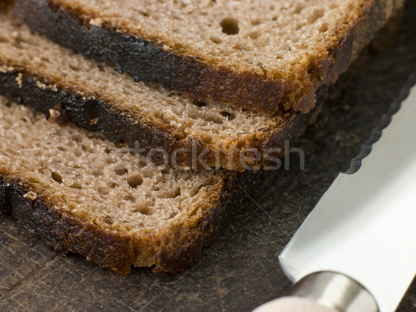 Slices of Rye Bread on a Chopping Board Stock photo © monkey_business