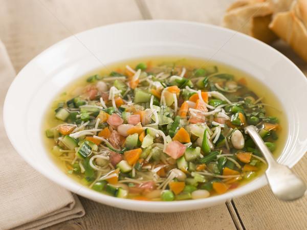 Foto stock: Tigela · sopa · legumes · tomates · cenoura · batata