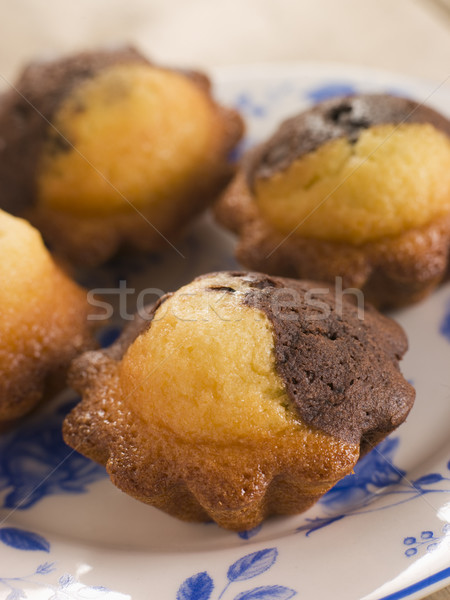 Chocolate and Vanilla Cake cooked in Brioche Tins Stock photo © monkey_business