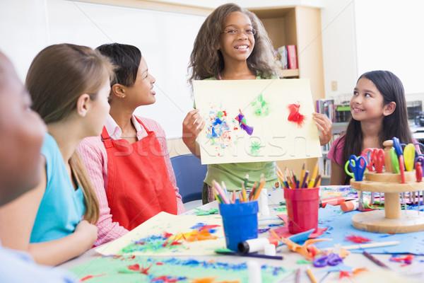 Szkoła podstawowa sztuki klasy zdjęcie Zdjęcia stock © monkey_business