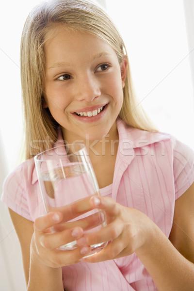 питьевая вода улыбаясь портрет девушки Сток-фото © monkey_business