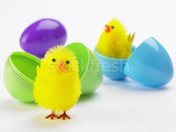 Easter Chicks Hatching Out Of Eggs Stock photo © monkey_business