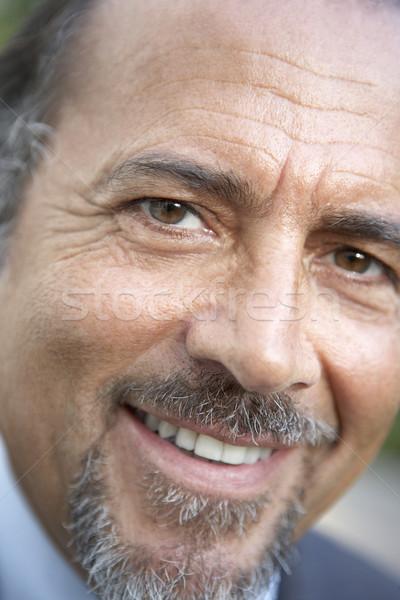 Zdjęcia stock: Portret · uśmiechnięty · kamery · twarz · człowiek