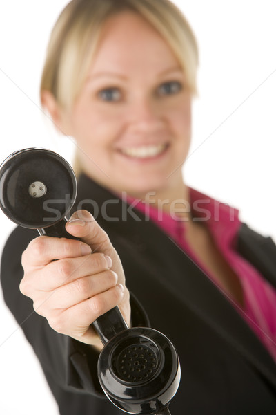 Businesswoman Holding Telephone Receiver Stock photo © monkey_business