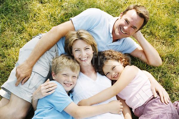 Aile açık havada gülen çocuklar mutlu çocuk Stok fotoğraf © monkey_business