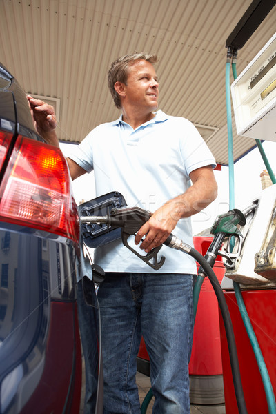 Detail Of Female Motorist Filling Car With Petrol At Petrol Stat Stock photo © monkey_business