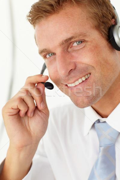 Centre d'appel opérateur affaires mains homme portrait Photo stock © monkey_business