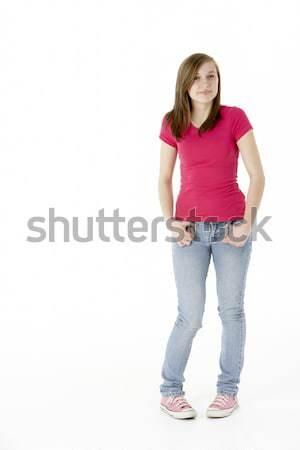 Young Girl Standing In Studio Stock photo © monkey_business