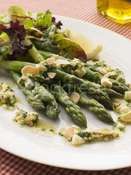 Asparagus Spears with Polonaise Vinaigrette and Salad Leaves Stock photo © monkey_business