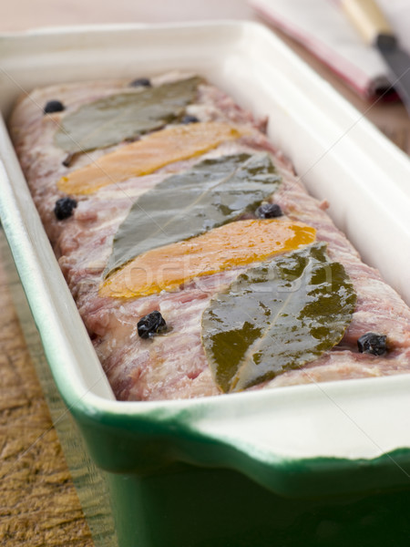 Pate Campagne in a Terrine Mould Stock photo © monkey_business